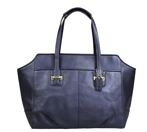 Coach   Coach Taylor Midnight Leather Alexis Carryall Shoulder Handbag 25205