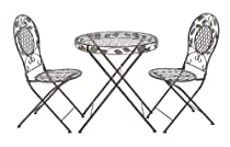 Hot Sale UMA Enterprises 63325 3-Piece Metal Bistro Outdoor Dining Set, 29 by 27-Inch