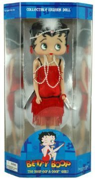 Poseable BETTY BOOP 1920's Flapper Dancing Girl COLLECTIBLE FASHION DOLL 9 Inches Tall with Stand by Betty Boop