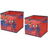 """Marvel Spider-Man Storage Cubes (2 Pack), 10"""""""