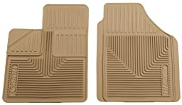 Husky Liners 51143 Semi-Custom Fit Heavy Duty Rubber Front Floor Mat - Pack of 2, Tan