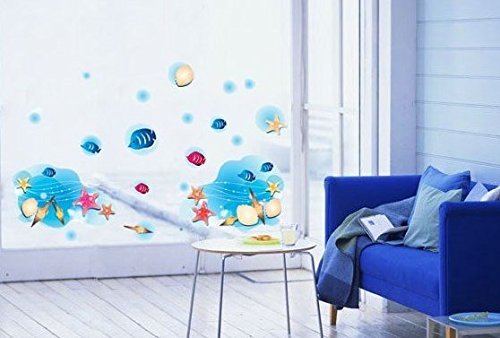 Children'S Cartoon Beach Fish Bedroom Decorative Wall Stickers front-850650