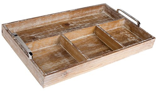 dwellbee-rustic-industrial-wood-ottoman-breakfast-serving-organizing-tray-rectangular-with-4-divider