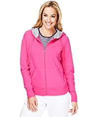 Cotton Rich Zip Through Hooded Tracksuit Top with Stay New™