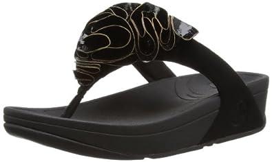 Fitflop Women's Frou Cork Sandals, Black, 3 UK