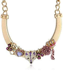"Betsey Johnson ""Imperial Princess"" Fox Collar Necklace, 18"""