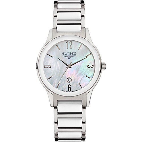 ELYSEE Made in Germany Kim 30020 32mm Stainless Steel Case Ceramic Synthetic Sapphire Women's Watch