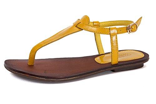 OZZEG - Strap alla caviglia donna , giallo (Yellow), 38