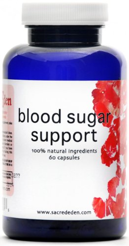 Blood Sugar Support - Natural Diabetes, Hypoglycemia, and Blood Sugar Control - 60 capsules, 500 mg each