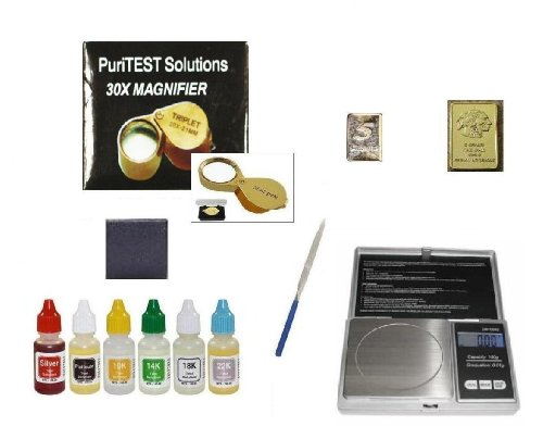 Coin Testing And Appraisal Tools: Test Solutions, Digital Scale, Magnifying Glass And Much More front-182670