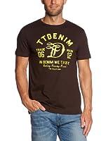 TOM TAILOR Denim Herren T-Shirt 10258100912/new ci print 1 (Weitere Farben)
