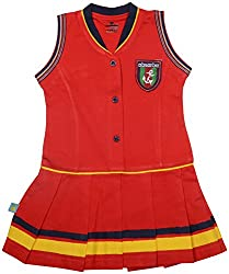 Absorba Baby Girls' Dress ( Red_18-24 Months ,60012)
