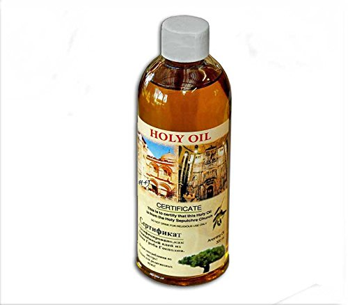 Certificated blessed 60 ml small bottle of holy land Anointing oil from Jerusalem (Holy Oil compare prices)