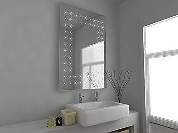 specchio da bagno illuminato con LED -Ambrose c43sv h:900 x w:600 x d: 45mm