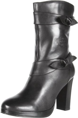 Harley-Davidson Women's Estelle Motorcycle Boot,Black,6.5 M US