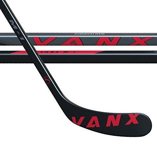 vanx-Enfant-M1-carbone-bton-de-hockey-sur-glace-droite-NoirRouge-375-g
