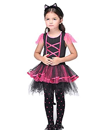 C.X Trendy Children's Halloween Gift Role Pretend Cats Cosplay Catarina Costume