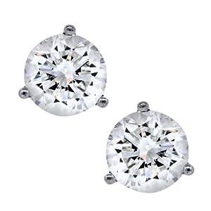 2.76 Carat Total Weight Round Diamond Stud Earrings GIA