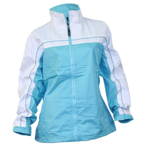 Ladies Smart Jacket / Windbreaker (Small, Aqua)