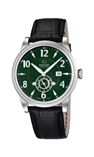 Jaguar Watches J662/3 - Orologio da polso uomo, pelle, colore: nero