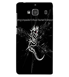 ColourCraft Dragon Image with Quote Design Back Case Cover for XIAOMI REDMI 2S
