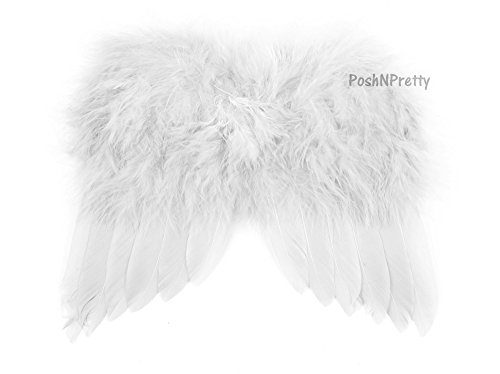 Natural Feather Angel Butterfly Wings, Newborn, Baby, Photo prop CHOOSE Colors or WHITE - Ships from USA