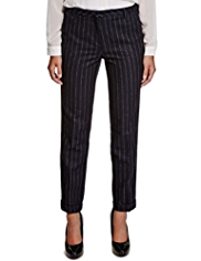 Limited Edition Chalk Striped Trousers with Wool