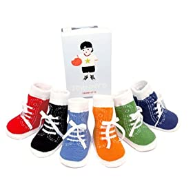 6 Pairs of Jonny's Hightop Tennis Shoe Socks by Trumpette