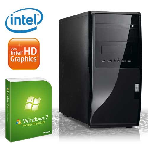 KCS [184403] - Silent-PC | Intel Dualcore G530 (2x 2400MHz) | 4GB DDR3-1333 | 500 GB SATA2 | Intel HD Grafik (DVI, VGA) FullHD (1080p) | ASUS P8H61-M LE/USB3 (B3) rev3.0 | 22xDVD-RW | 6-Kanal-Sound | Gigabit-LAN | Cardreader | 400W | Maus+Tastatur | Microsoft Windows 7 Home Premium 64-Bit