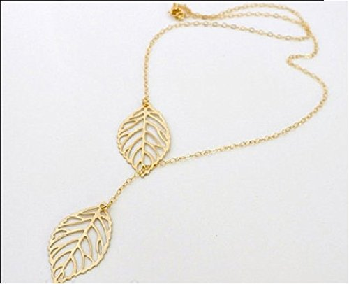 buy-any-2-get-1-free-unique-fashion-jewellery-gold-double-leaf-pendant-necklace-diamond-jewellery-2-