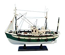 Handcrafted Nautical Decor Finally Fishing Decorative Fishing Boat, 18