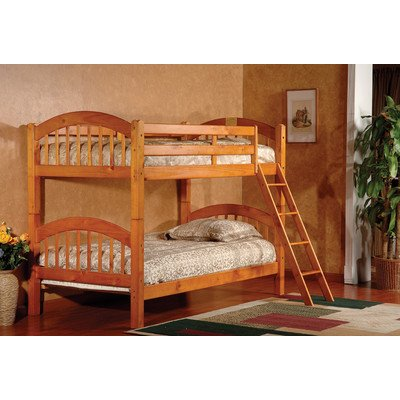 Twin Over Twin Arched Bunk Bed Finish: Honey Oak front-756934
