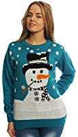 Candy Christmas Jumper, Snowman, Ladies & Mens, Novelty