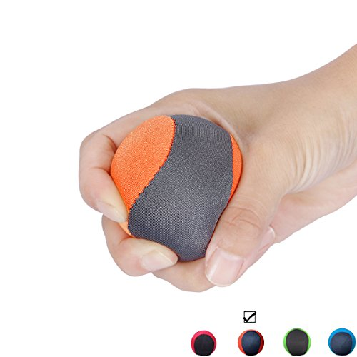 Stress Ball Gel Squeeze Ball Hand Therapy Optimal Stress Relief - Great for Hand Exercises and Strengthening for rock climbing bodybuilding tennis squash racquetball Like breast touch (Orange) (Hot Pink Lightbulbs compare prices)