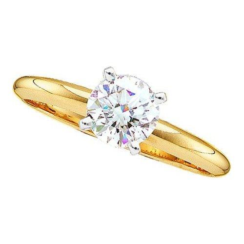 0.40CTW ROUND DIAMOND SOLITAIRE RING (EXE+)
