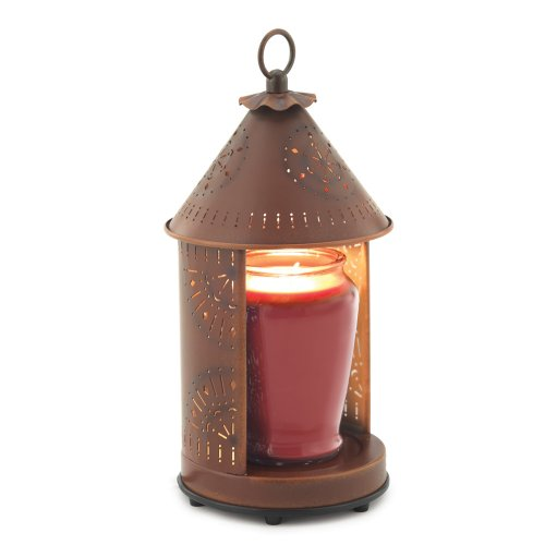 B005OKX3UK Candle Warmers Etc. Tin Punched Candle Warmer Lantern- Rustic Tin Sunshine