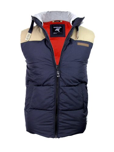 Nickelson Mens Hoodie RipStop Gilet/ Body Warmer Stone