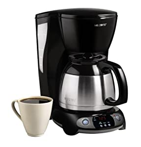 Mr Coffee Thermal Gourmet Coffee Maker : Amazon.com: Mr. Coffee 8-Cup Thermal Programmable Coffeemaker, Black: Drip Coffeemakers: Kitchen ...