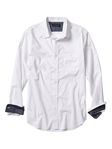 banana-republic-tailored-slim-fit-soft-wash-blue-dot-print-shirtwhite-medium