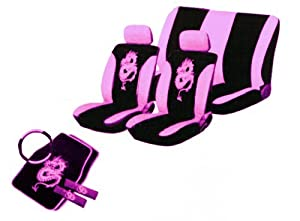 13pc Dragon Seatcover Set in Pink