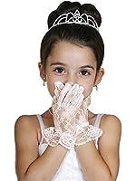 WonderfulDress Wrist Length Ruffled Lace Girl Gloves