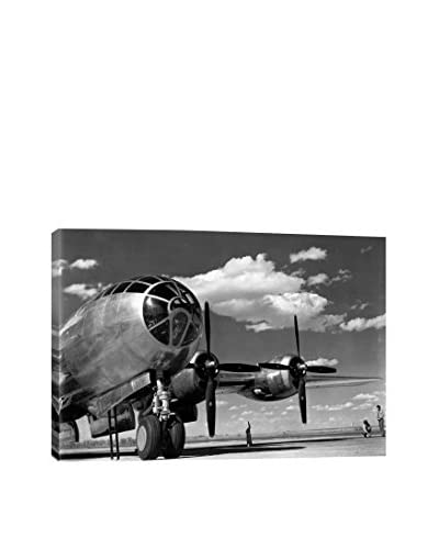 Retro Images Enola Gay On Runway Archive Gallery-Wrapped Canvas Print