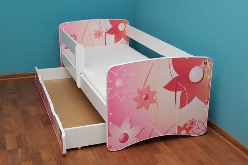 Best For Kids LIT POUR ENFANT 70x160 AVEC RAMBARDE de sécurité lit junior AVEC TIROIR 34 Designs Girafe