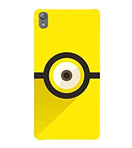 ANIMATED CARTOONISH EYE IN A YELLOW BACKGROUND 3D Hard Polycarbonate Designer Back Case Cover for Sony Xperia E5
