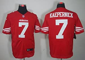 Football Jerseys San Francisco 49ers 7 Colin Kaepernick Red elite jersey (40) by LEAGUE GEAR