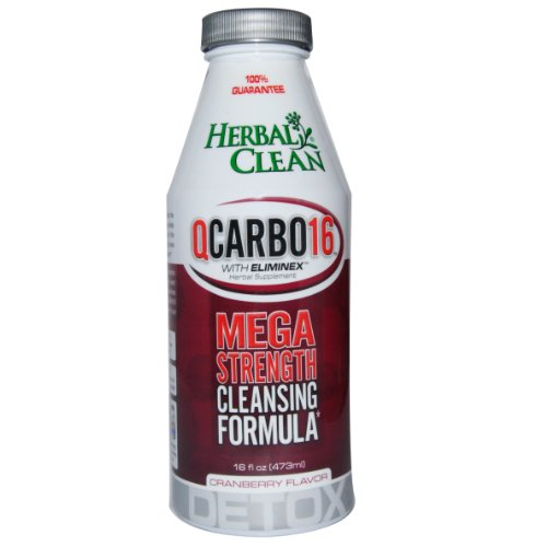 Herbal Clean Qcarbo 16 Strength Cleansing Formula Cranberry - 16 Fl. Oz. Bottle