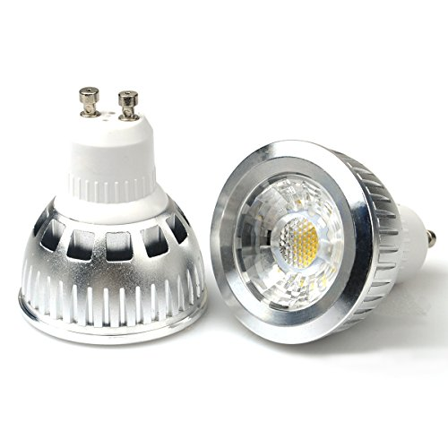 Jacky Led Gu10 6W Cob Led Lights Bulbs Lamp, 50W To 55W Equivalent, Cool White 6000K, Recessed Lighting, Led Spotlight, 550Lm