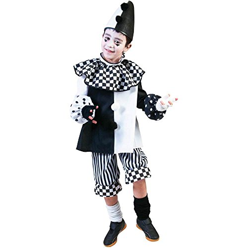 Black & White Clown Kids Costume