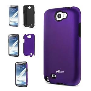 Acase Samsung Galaxy Note 2 Superleggera PRO Dual Layer Protection Case AT&T, Sprint, T-Mobile and Verizon Samsung Galaxy Note 2 (Purple/Black)