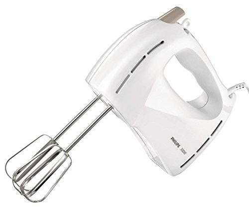 Philips Daily Collection HR1459 300-Watt Hand Mixer (White and Beige)